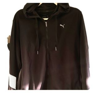 Puma Athletic Workout Zip Up Hoodie